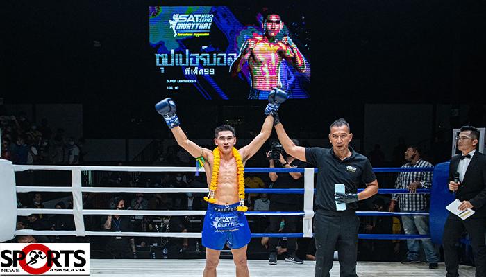 """""""ซุปเปอร์บอล"""" ชนะล้างตา """"ก้าวหน้า""""ศึก มวยไทย SAT Hero Series askslavia.comกีฬาต่อสู้"""