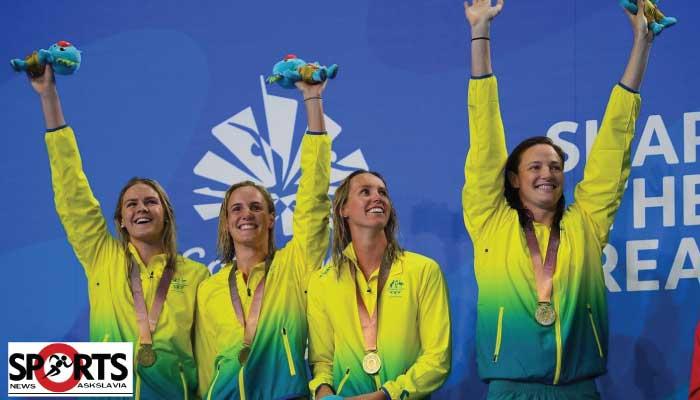 ทุบสถิติโลกกีฬาว่ายน้ำหญิง ออสเตรเลียคว้าเหรียญทอง