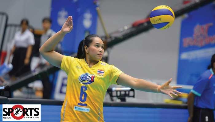 นักกีฬาไทย รางวัลยอดเยี่ยมในการเล่นวอลเลย์บอล